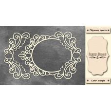 Набор чипбордов,ов Рамка и бордюр с завитками 2 10х15 см #526 , цвет молочный, Фабрика Декора