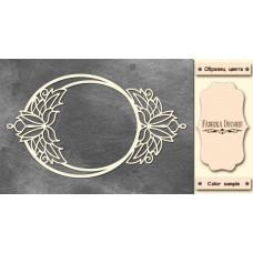 Набор чипбордов Рамка с цветочным орнаментом 10х15 см #529 , цвет молочный, Фабрика Декора
