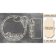Набор чипбордов Рамки детские 10х15 см #538 , цвет молочный, Фабрика Декора