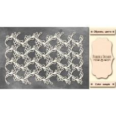 Набор чипбордов Веточки 10х15 см #541 , цвет молочный, Фабрика Декора