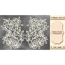 Набор чипбордов Орнамент Розы 10х15 см #544 , цвет молочный, Фабрика Декора