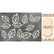 Набор чипбордов Ажурные листья 10х15 см #555, Фабрика Декора