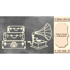 Набор чипбордов, Ретро 1, 10х15см #586, Фабрика Декора