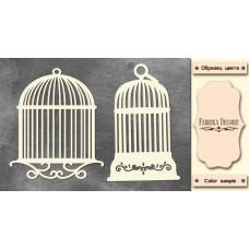 Набор чипбордов,ов, Клетки для птиц, 10х15см #590, Фабрика Декора