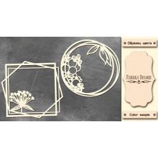 Набор чипбордов,ов, Рамки с летними цветами, 10х15см #604, Фабрика Декора