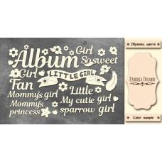 Набор чипбордов, Album, Cutie sparrow girl, 10х15см #615, Фабрика Декора