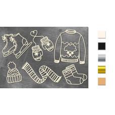 Набор чипбордов Набор зимний 10х15 см #646, молочный, Фабрика Декора