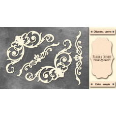 Набор чипбордов,ов, Вензеля #672, 10х15 см, 1,3мм, Фабрика Декора