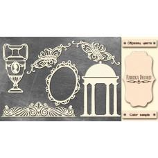 Набор чипбордов, Античный декор #1 #675, 10х15 см, 1,3мм, Фабрика Декора