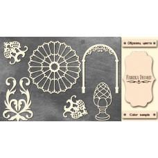 Набор чипбордов, Античный декор #2 #676, 10х15 см, 1,3мм, Фабрика Декора