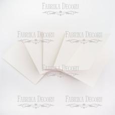 Набор заготовок для создания открыток, белый, 10х15 см, Фабрика Декора