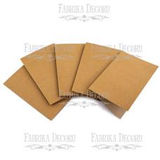 Набор заготовок для создания открыток, крафт, 10х15 см, Фабрика Декора
