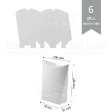 Набор картонных заготовок, Сюрприз, 120х100х35мм, белый, 6шт, Фабрика Декора