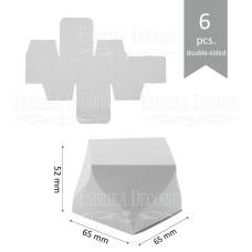 Набор картонных заготовок, Бобоньерка фигурная, 52х65х65мм, белый, 6шт, Фабрика Декора