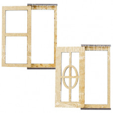 3D Заготовка Дверь 1, Дверь 2, фигурки для оформления кукольного домика #278, Фабрика Декору