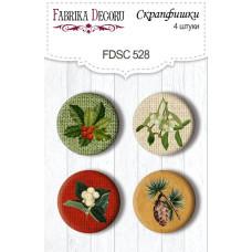 Скрапфишки набор 4 шт, Winter botanical diary, #528, Фабрика Декора