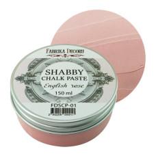 Меловая паста, Shabby Chalk Paste, Английская роза, 150 мл, Фабрика Декора
