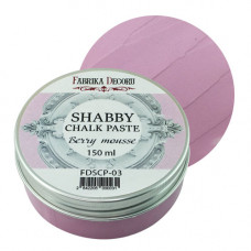 Меловая паста, Shabby Chalk Paste, Ягодный смузи, 150 мл, Фабрика Декора