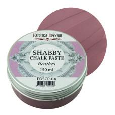 Меловая паста, Shabby Chalk Paste, Вереск, 150 мл, Фабрика Декора