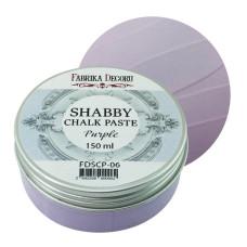 Меловая паста, Shabby Chalk Paste, Сирень, 150 мл, Фабрика Декора