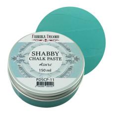 Меловая паста, Shabby Chalk Paste, Лазурная, 150 мл, Фабрика Декора