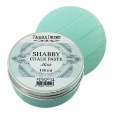Меловая паста, Shabby Chalk Paste, Мятная, 150 мл, Фабрика Декора