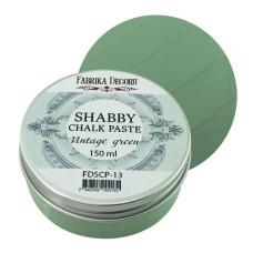 Меловая паста, Shabby Chalk Paste, Винтажная зелень, 150 мл, Фабрика Декора