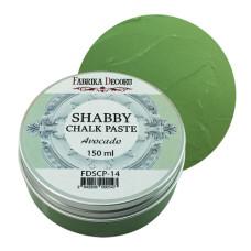 Меловая паста, Shabby Chalk Paste, Авокадо, 150 мл, Фабрика Декора