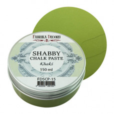 Меловая паста, Shabby Chalk Paste, Хаки, 150 мл, Фабрика Декора