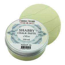 Меловая паста, Shabby Chalk Paste, Оливка, 150 мл, Фабрика Декора