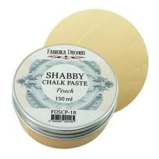 Меловая паста, Shabby Chalk Paste, Персик, 150 мл, Фабрика Декора