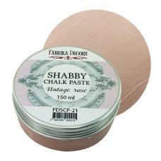 Меловая паста, Shabby Chalk Paste, Винтажная роза, 150 мл, Фабрика Декора
