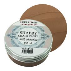 Меловая паста, Shabby Chalk Paste, Молочный шоколад, 150 мл, Фабрика Декора