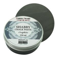 Меловая паста, Shabby Chalk Paste, Графит, 150 мл, Фабрика Декора