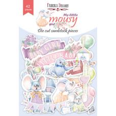 Набір вирубування колекція My little mousy girl 42 шт, Фабрика Декору