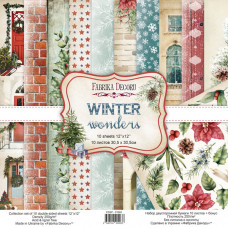 Набір скраппаперу Winter wonders 30,5x30,5 см 10 аркушів, Фабрика Декору