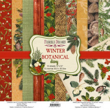 Набор скрапбумаги, Winter botanical diary, 30,5х30,5 см, 10 листов, Фабрика Декора