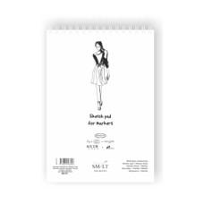 Альбом для маркеров на спирали, Authentic А4, 100г / м2, 50л, белый, Smiltainis