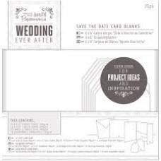 Набор заготовок для создания открыток, White Heart, 25 шт, 15х15 см, Papermania