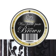 Восковая краска-паста Brown Matte, 10 мл, ScrapEgo