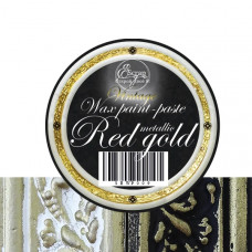 Восковая краска-паста Vintage  Red Gold Metallic, 10 мл, ScrapEgo
