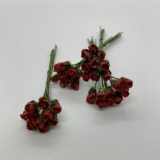 Набор бутонов роз, бордовый, 10 шт, 4-5 мм