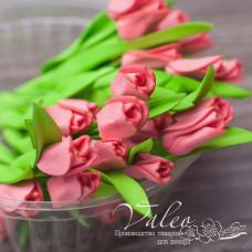 Декоративные Тюльпаны из фоамирана 8*18 мм, 5 шт, розовый, Valeo