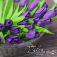Декоративные Тюльпаны из фоамирана 8*18 мм, 5 шт, фиолетовый, Valeo