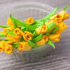 Декоративные Тюльпаны из фоамирана 8*18 мм, 5 шт, желтый, Valeo