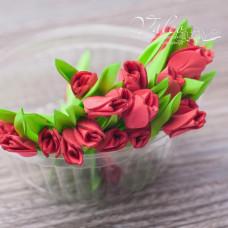 Декоративные Тюльпаны из фоамирана 8*18 мм, 5 шт, красный, Valeo