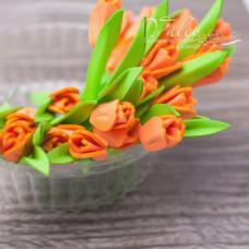 Декоративные Тюльпаны из фоамирана 8*18 мм, 5 шт, оранжевый, Valeo