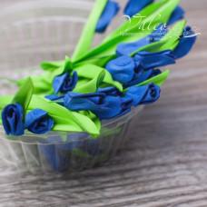 Декоративные Тюльпаны из фоамирана 8*18 мм, 5 шт, синий, Valeo