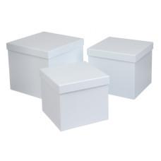 Подарочные коробки, белый, 3 шт