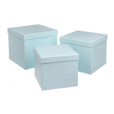 Подарочная коробка, нежно-голубой, 3 шт